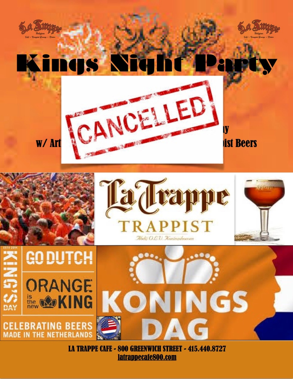 Kings Day 2017 Cancelled