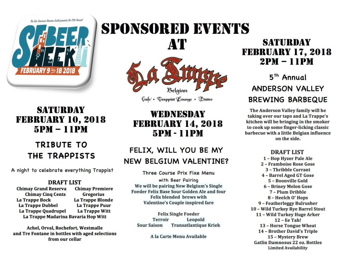 SFBW 2018 Event Advert
